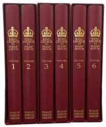 Stanley Gibbons King George VI Great Britain Stamp Album Set 1936-1952