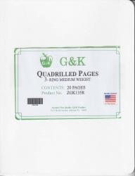 G&K Quadrilled Pages -- 3-Ring Medium Weight