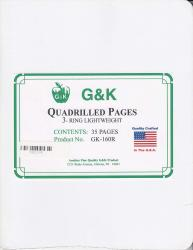G&K Quadrilled Pages -- 3-Ring Light Weight