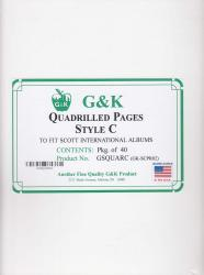 G&K Quadrilled Pages -- Style C -- Scott International Albums