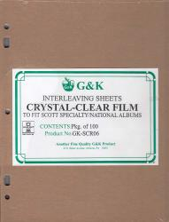 G&K Crystal Clear Interleaving -- Scott Specialty/National Albums