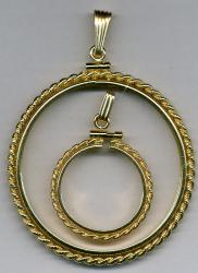 Gold Filled Simulated Rope Edge Bezel