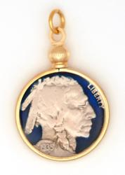 Hand Painted Buffalo Nickel (Obverse) Pendant