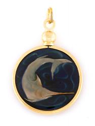 Hand Painted Singapore 20 Cent Swordfish Pendant