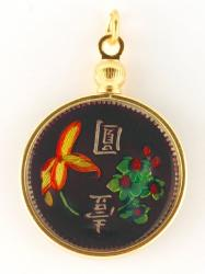 Hand Painted Taiwan Flowers Pendant