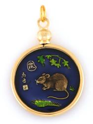 Hand Painted Chinese Year of the Rat Pendant (1924, 1936, 1948, 1960, 1972, 1984, 1996, 2008)