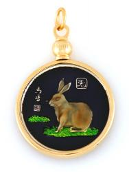 Hand Painted Chinese Year of the Rabbit Pendant (1927, 1939, 1951, 1963, 1975, 1987, 1999, 2011)
