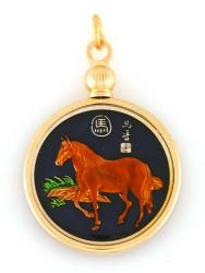 Hand Painted Chinese Year of the Horse Pendant (1930, 1942, 1954, 1966, 1978, 1990, 2002, 2014)