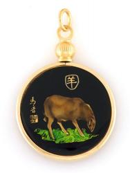 Hand Painted Chinese Year of the Sheep Pendant (1931, 1943, 1955, 1967, 1979, 1991, 2003, 2015)
