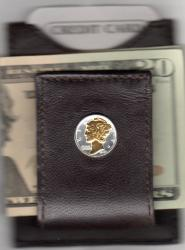 Gold on Silver Mercury Dime Folding Money Clip