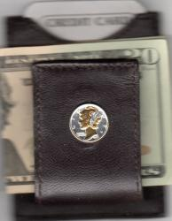 Gold and Silver on Silver Mercury Dime Folding Money Clip