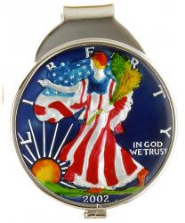 Hand Painted American Silver Eagle (Obverse) Money Clip
