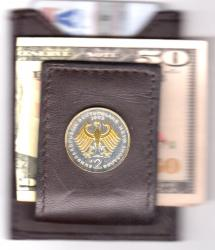Gold and Silver on Silver Germany 2 Mark Eagle Folding Money Clip