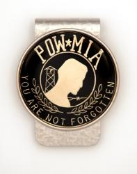 Hand Painted POW / MIA Money Clip
