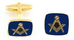 Hand Painted Masonic Medallion (Blue/Square) Cuff Links