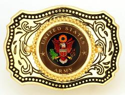 Hand Painted United States Army Belt Buckle